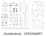 zodiac sings constellation ... | Shutterstock .eps vector #1351526897