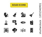 music icons set with pin with...