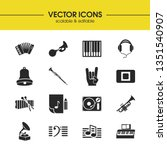 melody icons set with stop... | Shutterstock .eps vector #1351540907