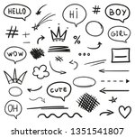 infographic elements on... | Shutterstock .eps vector #1351541807