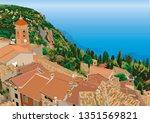 roquebrune cap martin near...   Shutterstock .eps vector #1351569821
