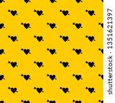 heart with arrow pattern... | Shutterstock . vector #1351621397