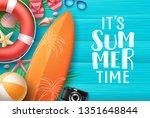 it's summer time vector banner...   Shutterstock .eps vector #1351648844