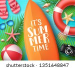 it's summer time vector design... | Shutterstock .eps vector #1351648847