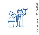 painter builder line icon...   Shutterstock .eps vector #1351649261