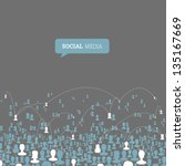 social media network. vector ... | Shutterstock .eps vector #135167669