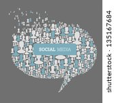 social media bubble speech... | Shutterstock .eps vector #135167684