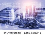 stock market or forex trading... | Shutterstock . vector #1351680341