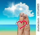 finger family travels at the... | Shutterstock . vector #135169805