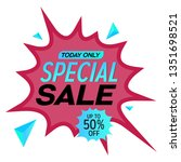 special sale discount offer... | Shutterstock .eps vector #1351698521