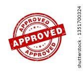 approved sign vector | Shutterstock .eps vector #1351700324