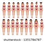 vector illustration of balayage ... | Shutterstock .eps vector #1351786787