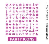 party  birthday  celebration ... | Shutterstock .eps vector #135179717
