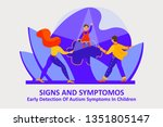 autism  signs and symptoms.... | Shutterstock .eps vector #1351805147