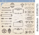 alligraphic decoration...   Shutterstock . vector #135181721