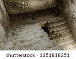 mystical interior  ruins of an... | Shutterstock . vector #1351818251