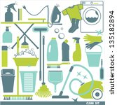 set of clean icon | Shutterstock .eps vector #135182894