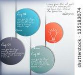 vector paper progress... | Shutterstock .eps vector #135183074