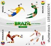 football national team players... | Shutterstock .eps vector #1351833374