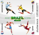 football national team players... | Shutterstock .eps vector #1351833377