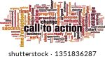 call to action word cloud... | Shutterstock .eps vector #1351836287
