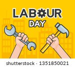 happy labour day | Shutterstock .eps vector #1351850021
