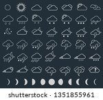 weather icons close up in... | Shutterstock . vector #1351855961