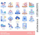 weather icons including flood ... | Shutterstock .eps vector #1351865591