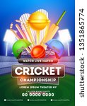 live cricket championship... | Shutterstock .eps vector #1351865774