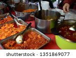 india curry cuisine with shrimp ...   Shutterstock . vector #1351869077