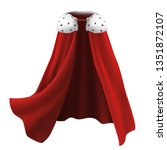 3d Realistic Cape In Red With...