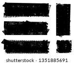 grunge paint roller . vector... | Shutterstock .eps vector #1351885691