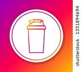 color fitness shaker line icon... | Shutterstock .eps vector #1351894694