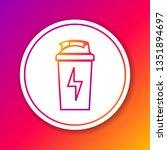 color fitness shaker line icon... | Shutterstock .eps vector #1351894697