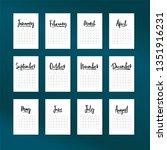 calendar 2019 vector set ... | Shutterstock .eps vector #1351916231