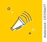 megaphone thin line icon.... | Shutterstock .eps vector #1351926677