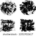 grunge post stamps collection ... | Shutterstock .eps vector #1351932617