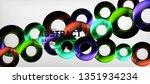 modern geometric circles... | Shutterstock .eps vector #1351934234