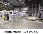lot of packaged beer bottles in ... | Shutterstock . vector #135193547