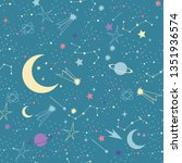 stars in night sky background ... | Shutterstock . vector #1351936574