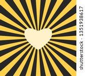 yellow heart shaped sun in... | Shutterstock . vector #1351938617