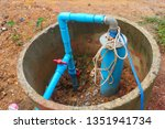 water well drilling  dig a well ... | Shutterstock . vector #1351941734