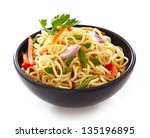 Bowl Of Noodles With Vegetable...