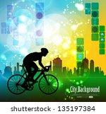 cycling. vector illustration | Shutterstock .eps vector #135197384