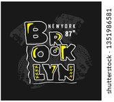 brooklyn typography design... | Shutterstock .eps vector #1351986581