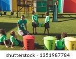 front view of caucasian teacher ... | Shutterstock . vector #1351987784