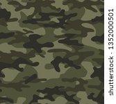 seamless vector military... | Shutterstock .eps vector #1352000501