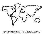 world map cartoon | Shutterstock .eps vector #1352023247