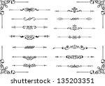 divide lines isolated on white | Shutterstock .eps vector #135203351