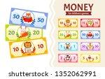 vector set of paper money for... | Shutterstock .eps vector #1352062991